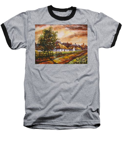 Autumn Cottages Baseball T-Shirt