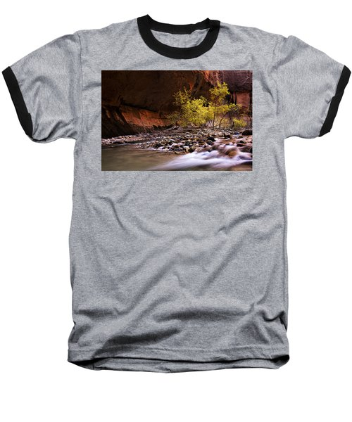 Baseball T-Shirt featuring the photograph Autumn Cottonwood In The Narrows by Andrew Soundarajan