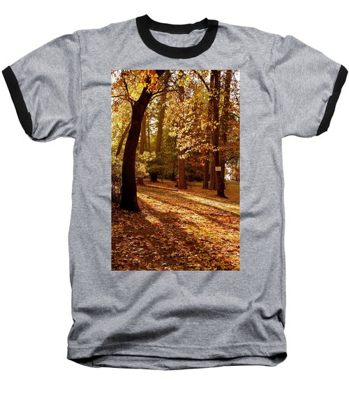 Autumn Country Lane Evening Baseball T-Shirt
