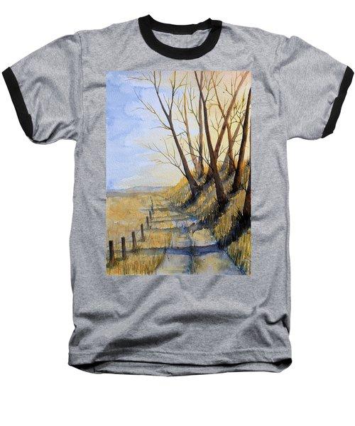 Autumn Country Road Baseball T-Shirt