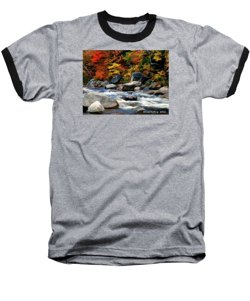 Baseball T-Shirt featuring the painting Autumn Creek by Bruce Nutting