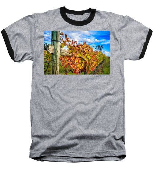 Autumn Falls At The Winery Baseball T-Shirt