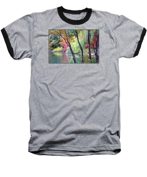 Autumn Fantasy Baseball T-Shirt by Dora Sofia Caputo Photographic Art and Design
