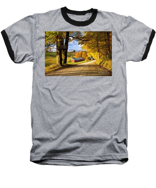 Autumn Farm In Vermont Baseball T-Shirt