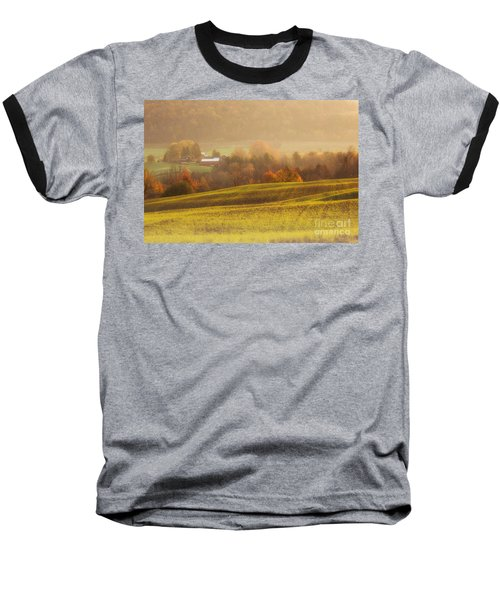 Autumn Fields Baseball T-Shirt