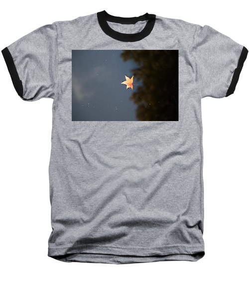 Autumn Floating By Baseball T-Shirt by Rebecca Davis