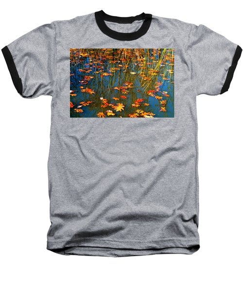 Baseball T-Shirt featuring the photograph Autumn  Floating by Peggy Franz