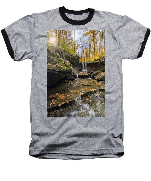 Autumn Flows Baseball T-Shirt by James Dean