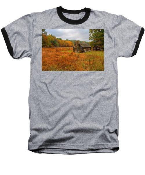 Autumn Foliage In Valley Forge Baseball T-Shirt by Michael Porchik