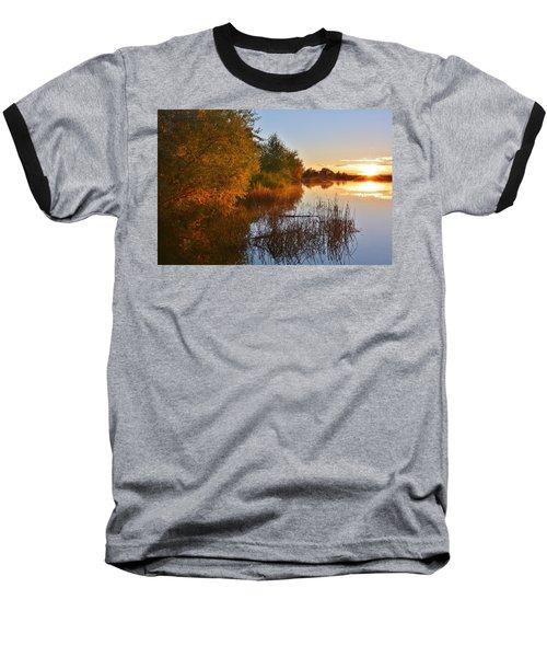 Autumn Glow At The Lake Baseball T-Shirt