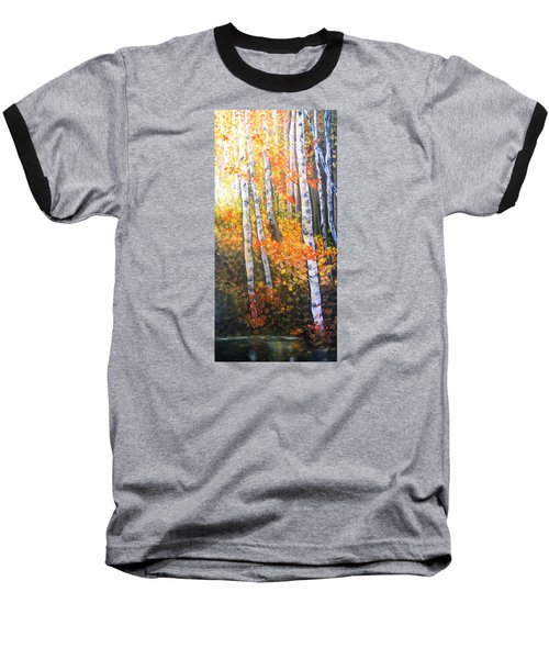 Autumn Glow Baseball T-Shirt by Patti Gordon