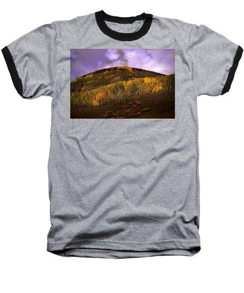 Baseball T-Shirt featuring the photograph Autumn Hillside by Ellen Heaverlo