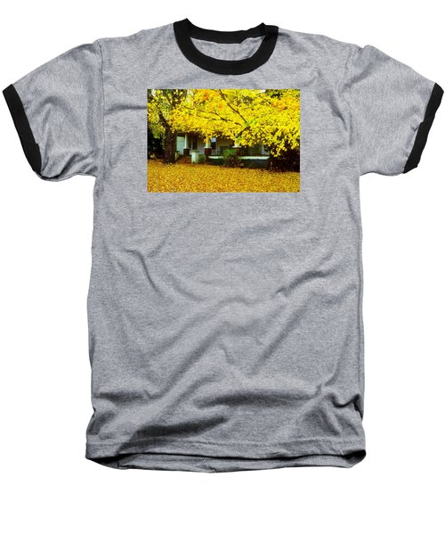 Baseball T-Shirt featuring the photograph Autumn Homestead by Rodney Lee Williams