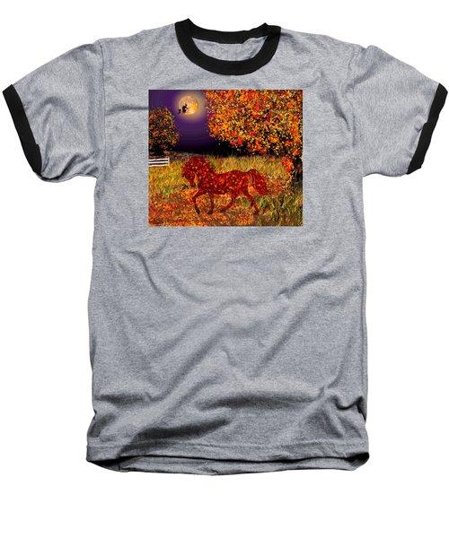Autumn Horse Bewitched Baseball T-Shirt by Michele Avanti