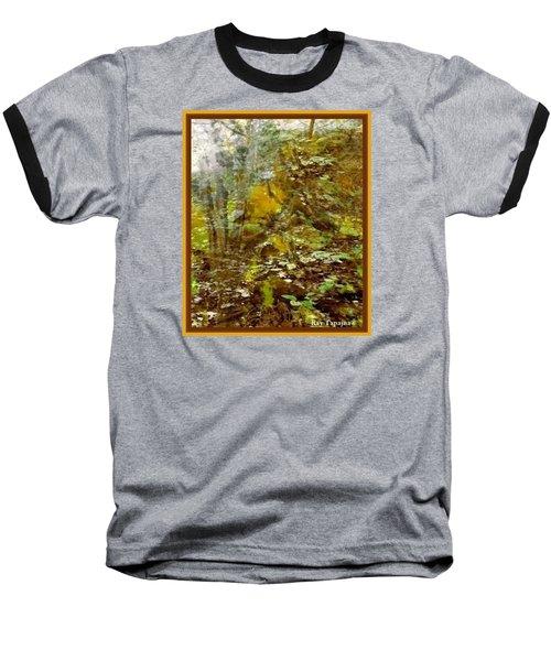 Baseball T-Shirt featuring the mixed media Autumn Impressions by Ray Tapajna
