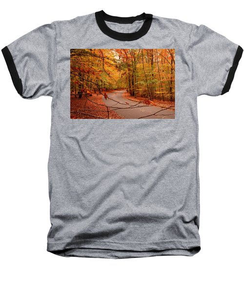 Autumn In Holmdel Park Baseball T-Shirt