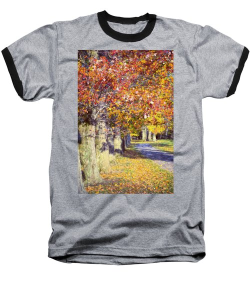 Autumn In Hyde Park Baseball T-Shirt by Joan Carroll