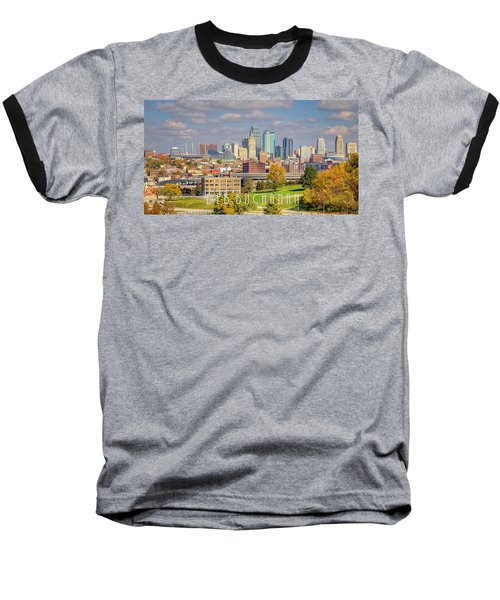 Autumn In Kansas City With Logo Baseball T-Shirt