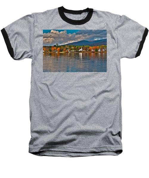 Autumn In Melvin Village Baseball T-Shirt by Brenda Jacobs