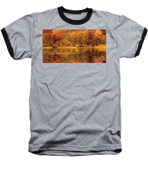 Autumn In Mirror Lake Baseball T-Shirt
