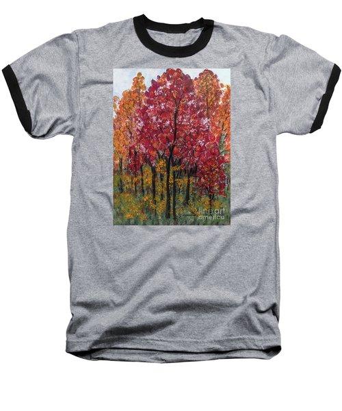 Autumn In Nashville Baseball T-Shirt by Holly Carmichael