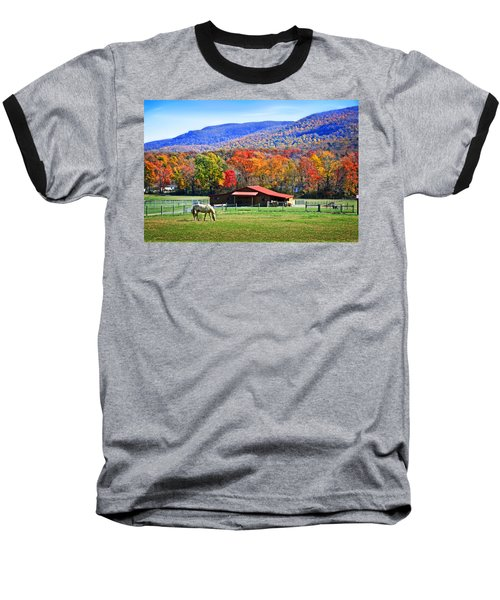 Autumn In Rural Virginia  Baseball T-Shirt by Lynn Bauer