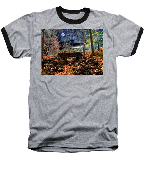 Baseball T-Shirt featuring the painting Autumn In The Meadow by Michael Rucker