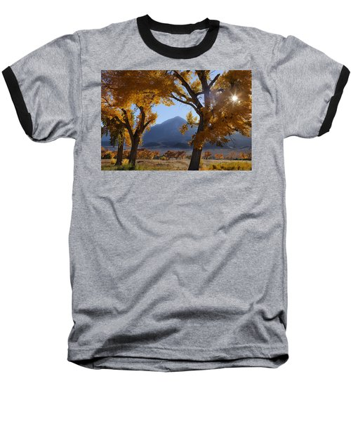 Baseball T-Shirt featuring the photograph Autumn In The Mountains by Andrew Soundarajan