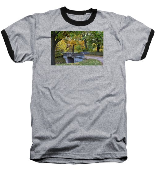 Autumn In The Park Baseball T-Shirt by Bruce Bley