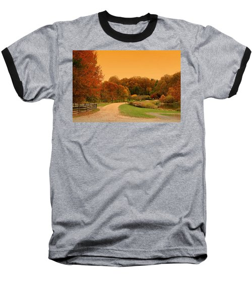 Autumn In The Park - Holmdel Park Baseball T-Shirt