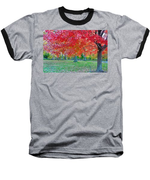 Autumn In Central Park Baseball T-Shirt