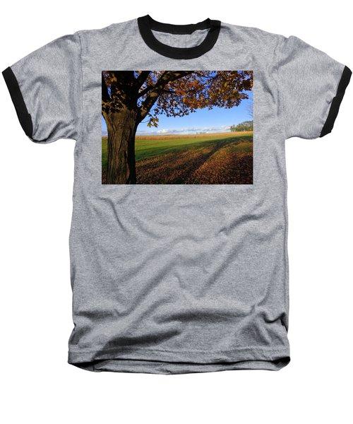 Autumn Landscape Baseball T-Shirt by Joseph Skompski