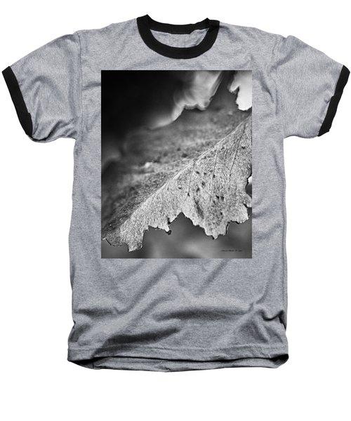 Autumn Leaves B And W Baseball T-Shirt