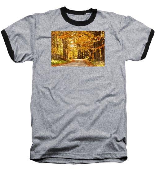 Autumn Leaves Baseball T-Shirt