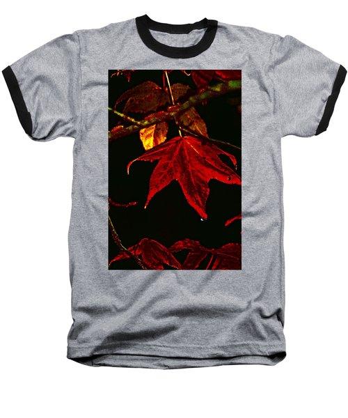 Baseball T-Shirt featuring the photograph Autumn Leaves by Lesa Fine