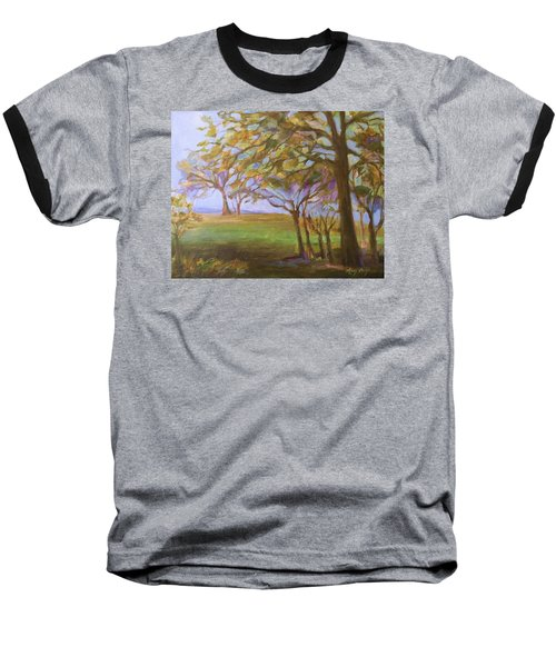 Baseball T-Shirt featuring the painting Autumn Leaves by Mary Wolf