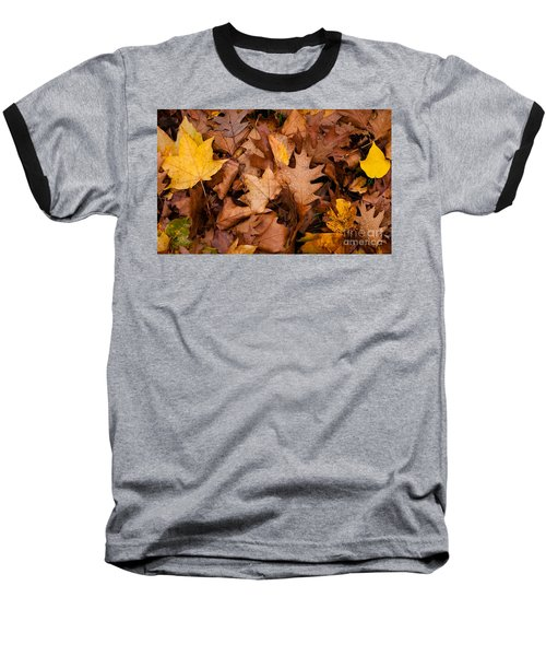 Baseball T-Shirt featuring the photograph Autumn Leaves by Matt Malloy