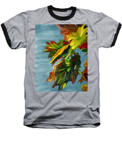 Baseball T-Shirt featuring the painting Autumn Leaves by Michael Daniels