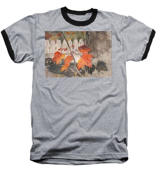 Autumn Leaves On Belmont St Baseball T-Shirt