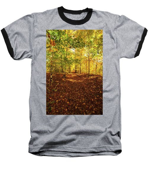 Autumn Leaves Pathway  Baseball T-Shirt