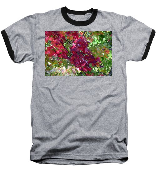 Autumn Leaves Reflections Baseball T-Shirt