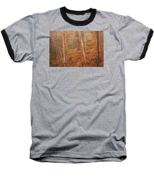 Autumn Mist Baseball T-Shirt by Patrice Zinck