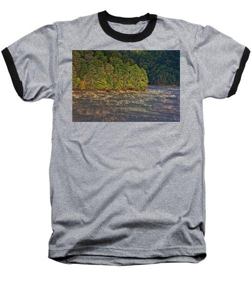 Autumn Mist Baseball T-Shirt by Tom Culver