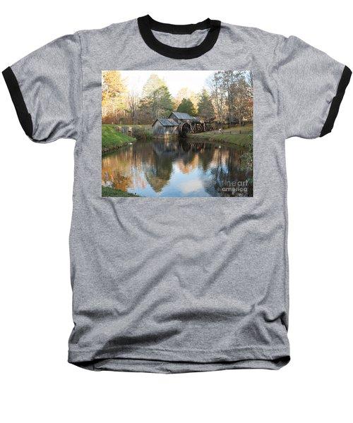 Autumn Morning At Mabry Mill Baseball T-Shirt