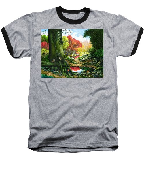 Autumn Morning In The Forest Baseball T-Shirt