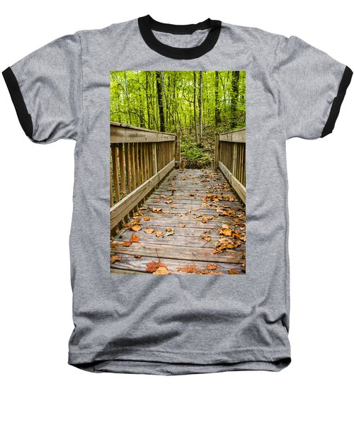 Autumn On The Bridge Baseball T-Shirt