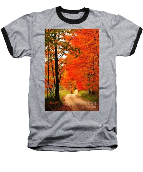 Baseball T-Shirt featuring the photograph Autumn Orange 2 by Terri Gostola