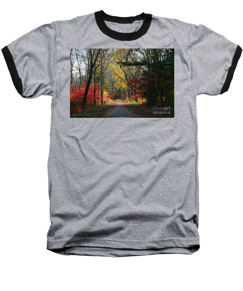 Autumn Paths    No.2 Baseball T-Shirt