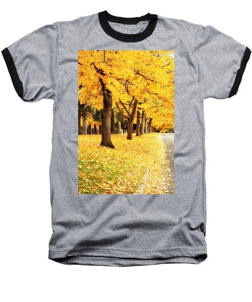 Autumn Perspective Baseball T-Shirt