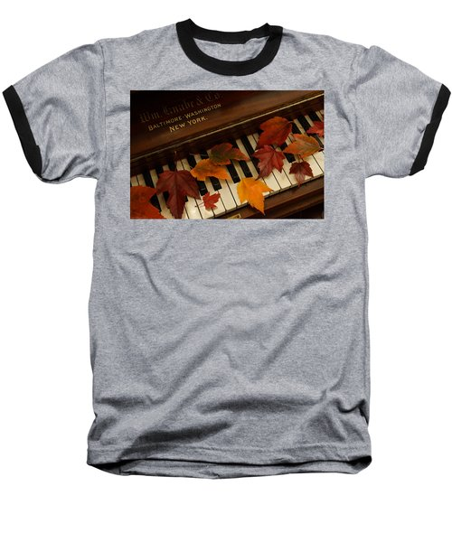 Autumn Piano 14 Baseball T-Shirt by Mick Anderson